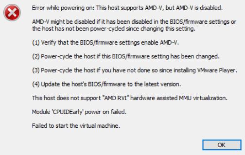 AMD 오류 메시지