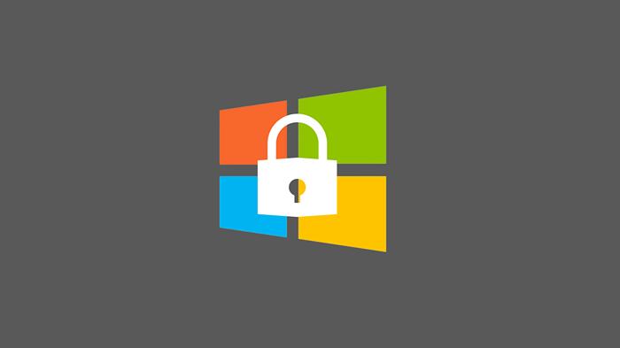 윈도우 로고 와 자물쇠 아이콘