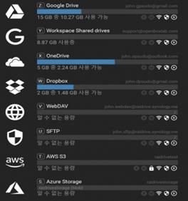 RaiDrive 레이드라이브 여러가지 클라우드 지원