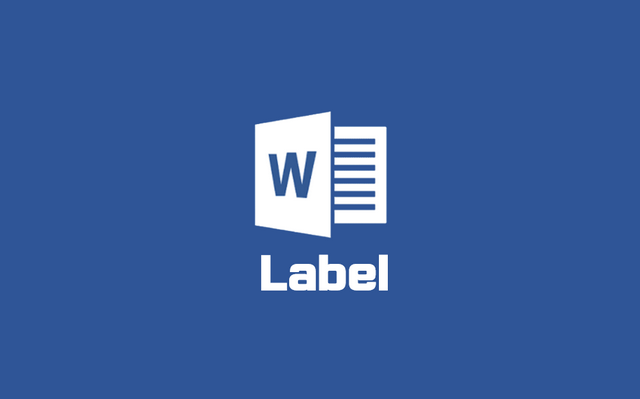 워드 로고 label
