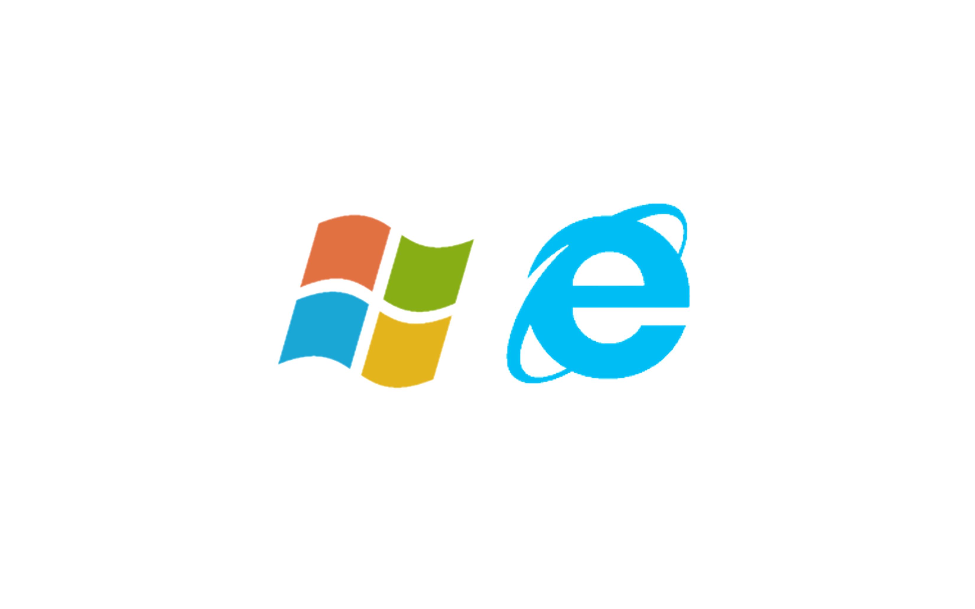 윈도우 과 인터넷 익스플로러 로고