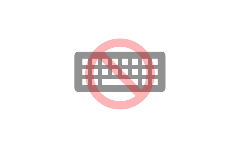 키보드 와 금지 아이콘 이미지