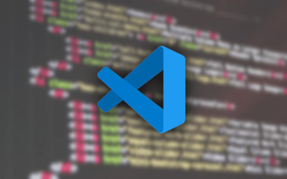 VSCode 로고 와 코딩 화면