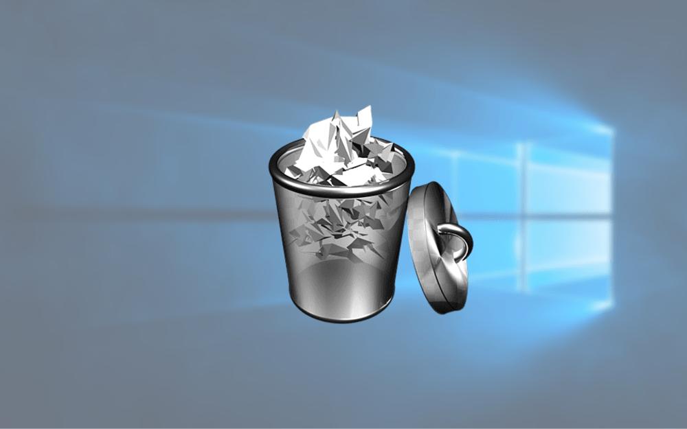 windows 로고 와 휴지통아이콘