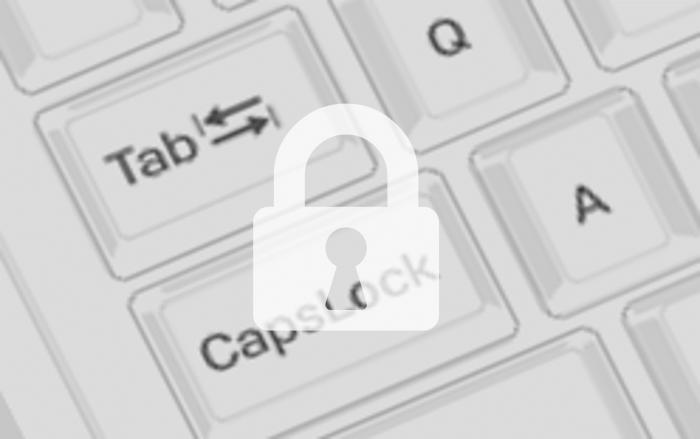 캡스락 키 자판 과 자물쇠 이미지