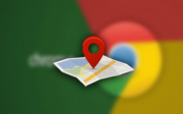 크롬 로고 와 지도 위치 아이콘